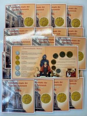 Austria Lot of 20 Coin Sets 1999