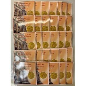 Austria Lot of 30 Coin Sets 1999