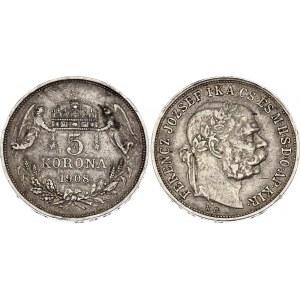 Hungary 5 Korona 1908 KB