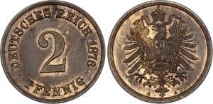 Germany - Empire 2 Pfennig 1876 A
