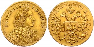 Russia Chervonets / Ducat 1716 Antic Copy in Gold