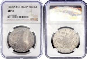 Russia 1 Rouble 1783 СПБ ТI ИЗ NGC AU 55