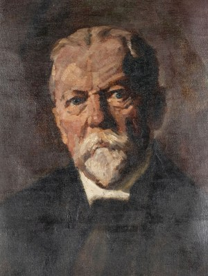PORTRET SIWEGO MĘŻCZYZNY, ok. 1900