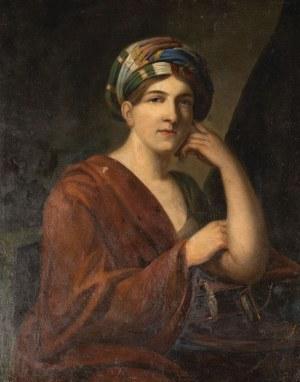 DAMA W TURBANIE, k. XIX w.