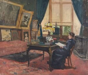 KOBIETA W SALONIE, ok. 1900