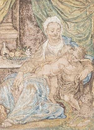 MADONNA Z DZIECIĄTKIEM I ŚW. JANEM, XVII / XVIII w.
