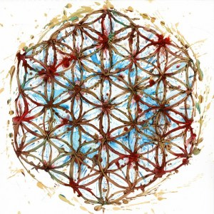 Carne Griffiths, Flower of life, 2014