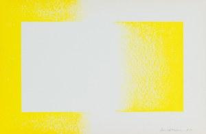 Richard Anuszkiewicz, Żółty odwrócony, 1970
