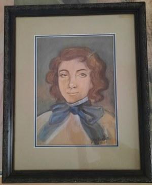Nierozpoznany Autor, Portret kobiety (Mehoffer?), 1935