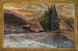 Franz Richard Scholz, Pejzaż zimowy, 1928