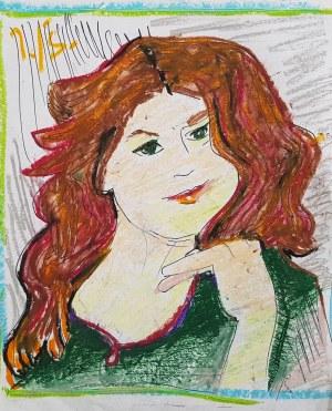 Jerzy Świątkowski, Portret kobiety z rudymi włosami