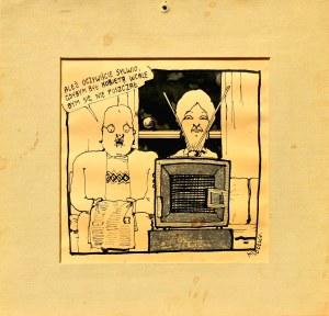 Andrzej MLECZKO (ur. 1949), Rysunek satyryczny