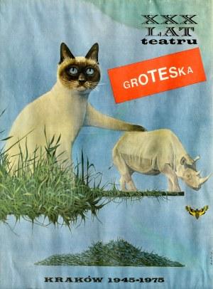 Kazimierz MIKULSKI (1918-1998), Plakat z kotem (XXX lat Teatru Groteska)