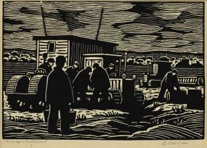 Leopold LEWICKI(1906-1973), Na polach kołchozu