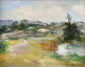 Edward WIECZOREK(1901-1988), Pejzaż z rzeką