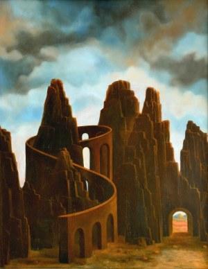 Ryszard KRYŃSKI(ur. 1950 r.), Pejzaż fantastyczny, 1981