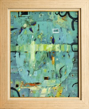 Witold PAZERA (ur. 1953), Niebiesko - zielone wspomnienie, 2002