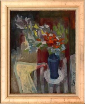 Stefan SZAWICA, Martwa natura z kwiatami w dzbanie, 1970