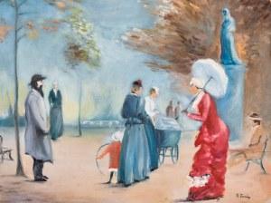 Henri FORAIN (ur. 1917), Scena z parku