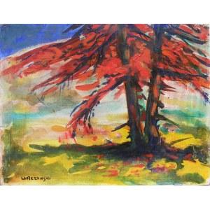 Mieczysław LURCZYŃSKI (1907-1992), Pejzaż z drzewami