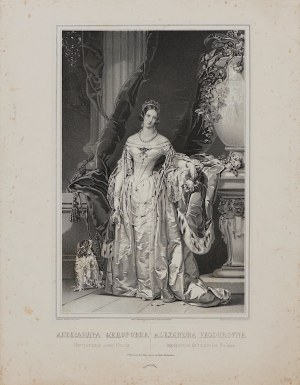 Christina Robertson, V. Schertle, Portret carycy Aleksandry Fiodorowny, królowej Polski, Petersburg, ok. 1850