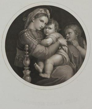 Rafael, H. Petersen, Madonna Della Sedia, lata 1850-70
