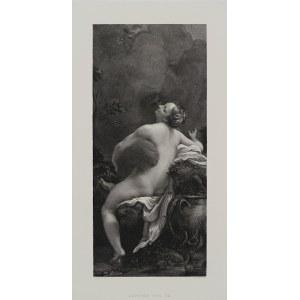 Correggio, J. Lindner, para grafik: Jowisz i Io oraz Porwanie Ganimedesa, Wiedeń, przełom XIX/XX w.