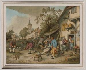 Adriaen van Ostade, H. Paar, Gra w kręgle, koniec XIX w.