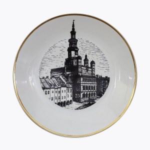 Talerz dekoracyjny - Ratusz w Poznaniu - Chodzież, Zakłady Porcelany i Porcelitu