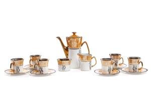 Serwis do kawy na 6 osób - Zakłady Fajansu