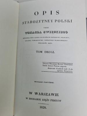 Święcicki Tomasz OPIS STAROZYTNEJ POLSKI.Reprint