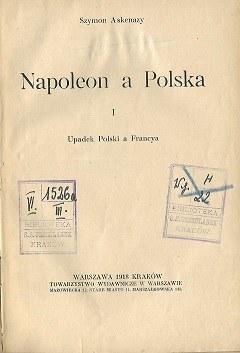 Askenazy Szymon NAPOLEON A POLSKA