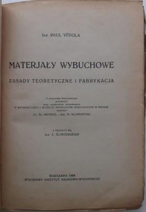 Verola Paul MATERJAŁY WYBUCHOWE