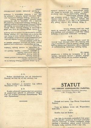 LIGA OBRONY GOSPODARCZEJ Statut Ligi Obrony Gospodarczej Państwa