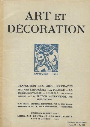 ART ET DEROCATION SEPTEMBRE 1925 Stryjeńska