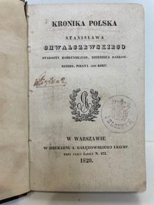 Chwalczewski Stanisław KRONIKA POLSKA