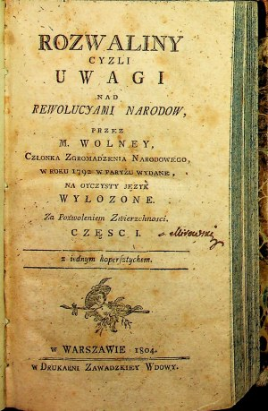ROZWALINY CZYLI UWAGI NAD REWOLUCYAMI NARODOW 1804