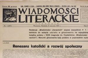 Tygodnik WIADOMOŚCI LITERACKIE Bruno SCHULZ