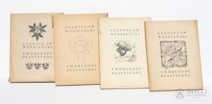 Cztery zbiory prac na pocztówkach STANISŁAW WYSPIAŃSKI TWÓRCZOŚĆ PLASTYCZNA