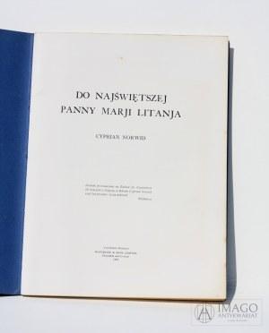 Cyprian Norwid DO NAJŚWIĘTSZEJ PANNY MARJI LITANJA Londyn 1962