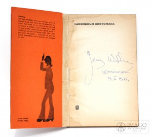 Jerzy Wittlin VADEMECUM EROTOMANA Autograf, ilustrował Daniel Mróz