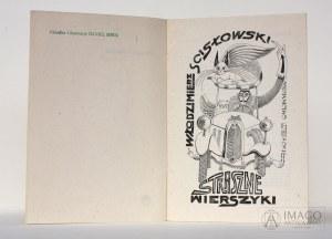 Włodzimierz Scisłowski STRASZNE WIERSZYKI ilustrował Daniel Mróz
