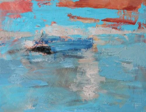 Kinga Wnuk-Moskalska (ur. 1975), Nad morzem. Zachód, 2014