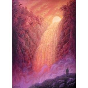 Konstantyn Płotnikow (ur. 1991), Where Sun Meets Waterfall, 2021