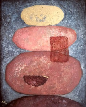 Ewa Najdenow (ur. 1967), Wabi-Sabi Blues V, 2021