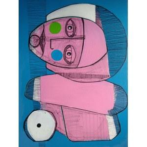 Ewelina Lochman (ur. 1978), Portret różowy, 2021