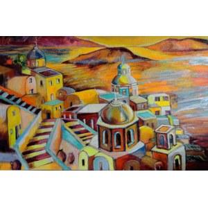 Magdalena Kurek (ur. 1979), W podróży poza czasem na Santorini, 2021