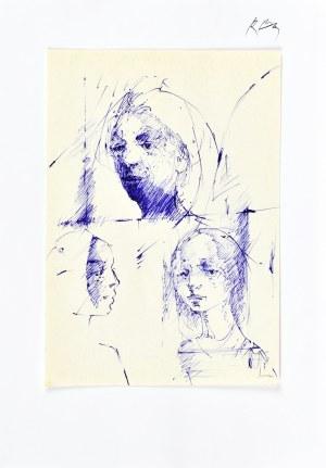 Roman BANASZEWSKI (1932-2021), Szkice głów kobiet