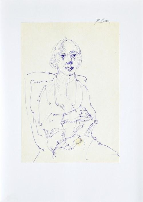 Roman BANASZEWSKI (1932-2021), Szkic kobiety siedzącej na krześle