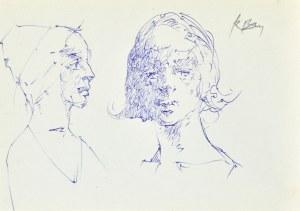 Roman BANASZEWSKI (1932-2021), Szkice popiersia kobiety